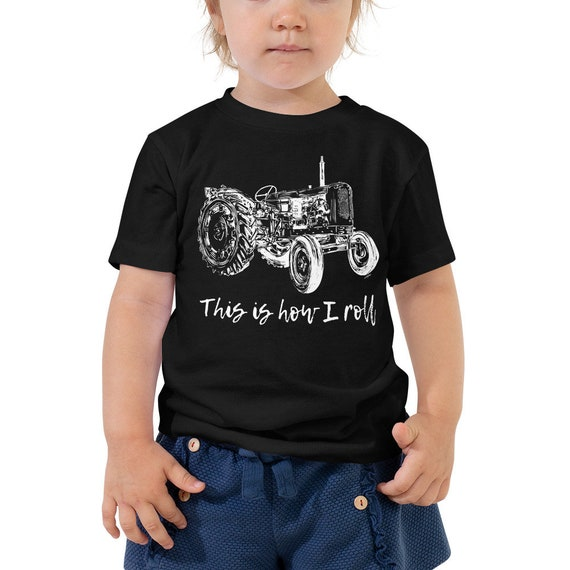 This is How I Roll Toddler Short Sleeve Tee 2T-5T | Farm Life Kid's Shirt Farm Shirt Farmer Shirt Farm Shirt Tractor Shirt Birthday Gift
