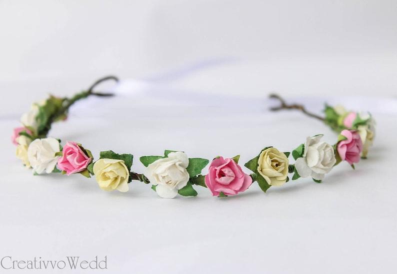 Flower Headpiece Natural Flower Crown Bridal Flower Halo Floral Garland Floral halo Flower Girl Crown Bridesmaid Garland