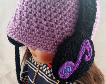 Handmade Crocheted Headphone Toddler Hat