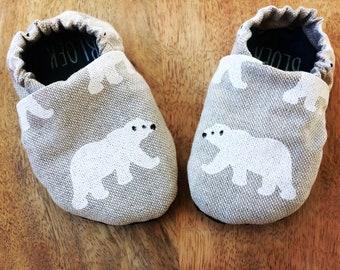 Polar bear/ polar bear slippers, shoe, baby toddler toddler
