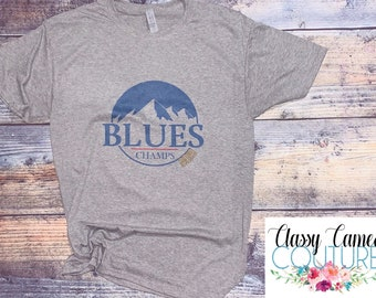 10219528e St. Louis Blues Busch Mountains Champs 2019. Stanley Cup champs. Stl blues.  Blues hockey. Champions.