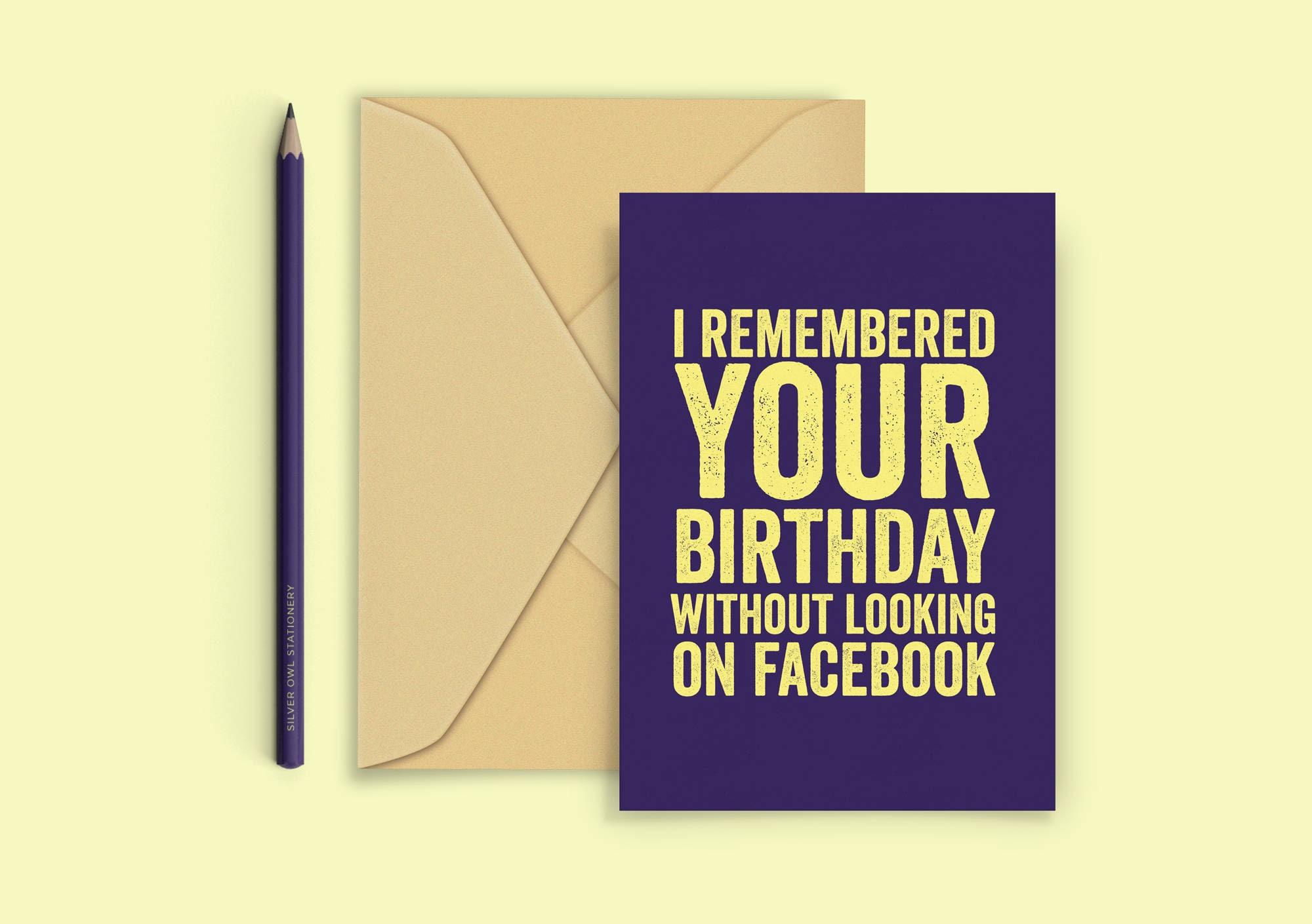 Funny Birthday Card Facebook