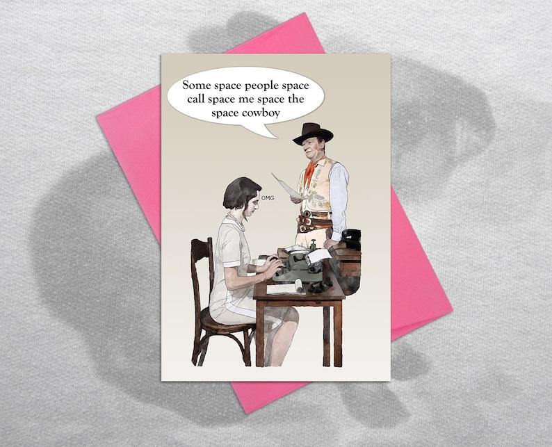 Space Cowboy Birthday Card Blank Inside