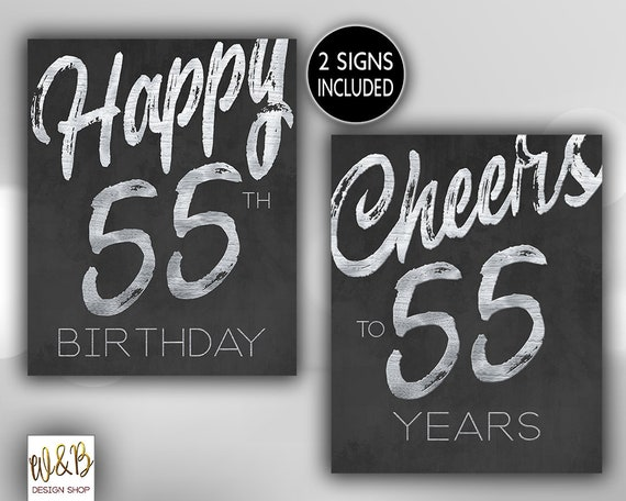 HAPPY 55th BIRTHDAY CHEERS to 55 Years Fifty Five   Etsy 1b54d241bd