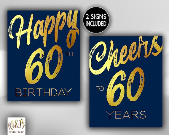 happy 60th birthday cheers to 60 years sixty birthday etsy