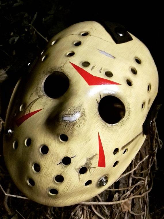 Jason Voorhees Part Iii Barn Scene V1 Hockey Mask Prop Etsy