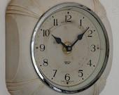 16cm Vintage Smiths Sectric Art Deco Wall Clock - Retro Cream Converted to Quartz Mechanism Gift