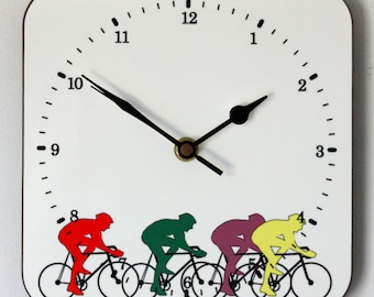 NEW 19cm Cycling Wall Clock - Modern Style Bicycle Bike Gift