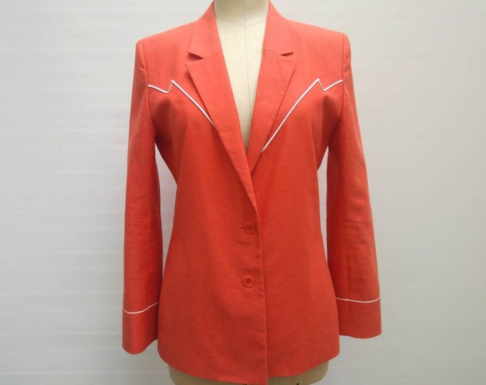 CACHAREL vintage coral cotton and linen jacket