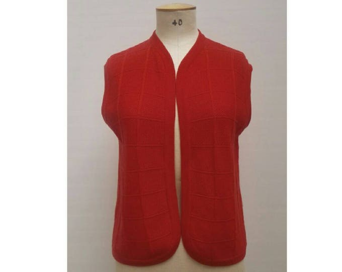 ESCADA vintage early 80s red wool knit vest