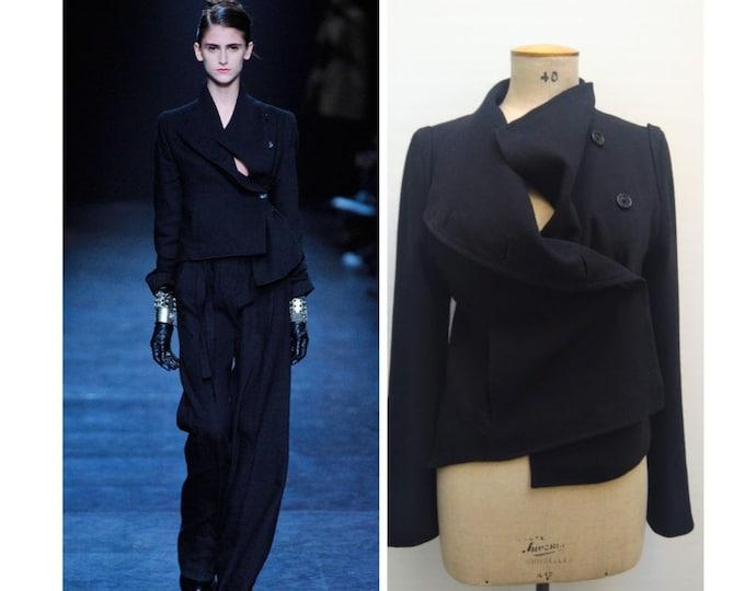 ANN DEMEULEMEESTER pre-owned black runway fall 2010 jacket