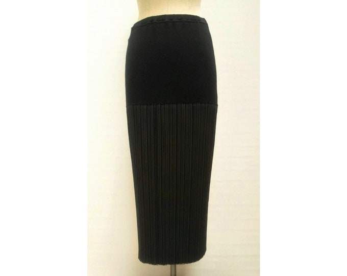 ISSEY MIYAKE vintage 90s long black pleated skirt