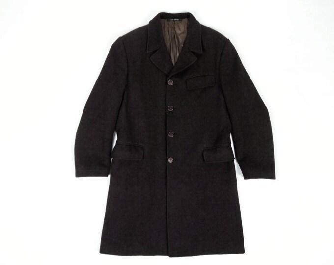 RYKIEL HOMME by Sonia Rykiel men's vintage 90s brown wool coat