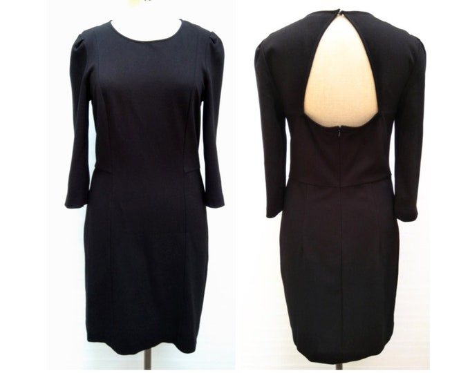 DKNY pre-owned black sheath dress with cut out back
