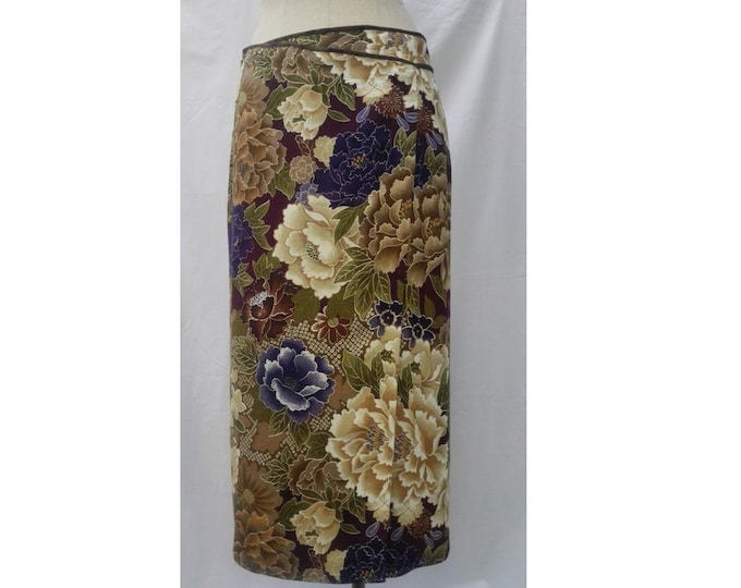 KENZO PARIS vintage 90s floral long wrap skirt