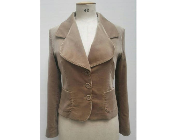 MAX MARA vintage 90s toffee brown velvet jacket
