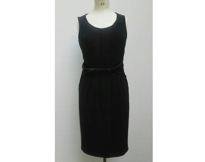 MAX MARA vintage 90s black  satin crepe cocktail dress
