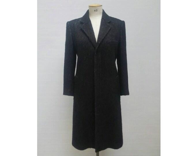 JEAN PAUL GAULTIER vintage black mohair blend coat