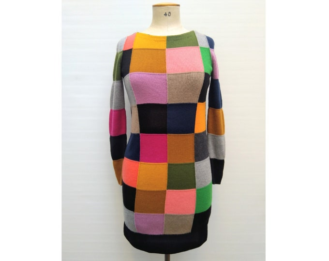 SONIA by SONIA RYKIEL pre-owned multicolor patchwork merino knit dress