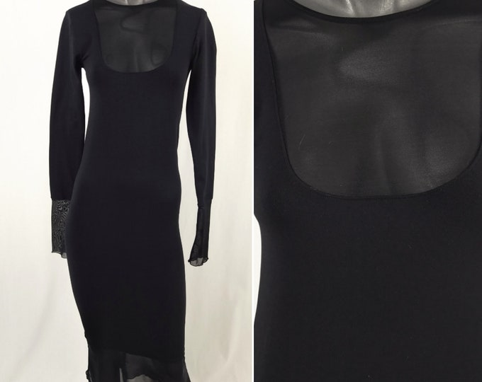 WOLFORD + LAGERFELD GALLERY pre-owned black bodycon dress