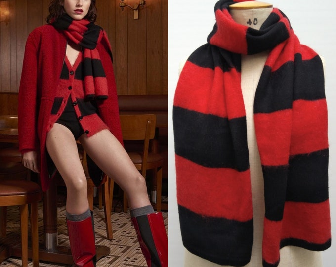 SONIA by SONIA RYKIEL pre-owned black and red striped wool scarf