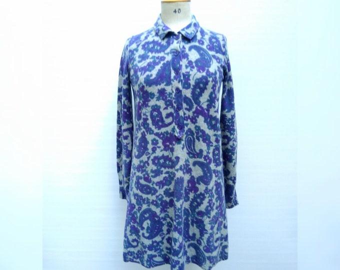 SONIA by SONIA RYKIEL pre-owned grey/blue/purple paisley print knit dress
