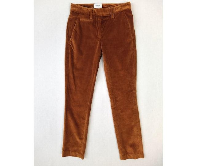 DONDUP pre-owned rust cotton velvet pants