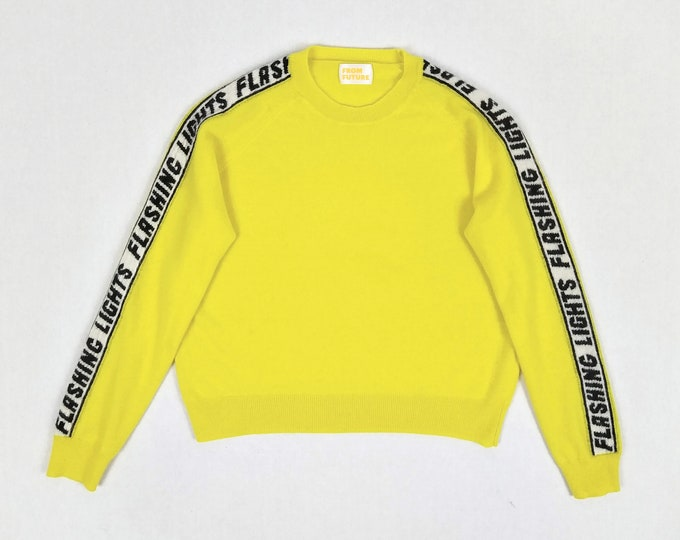 FROM FUTURE pre-owned Flashing Lights lemon yellow cashmere jumper