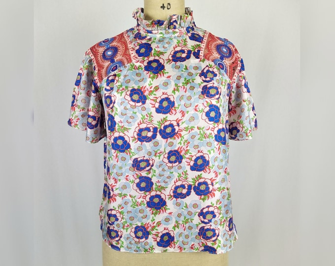 SANDRO pre-owned floral silk blouse