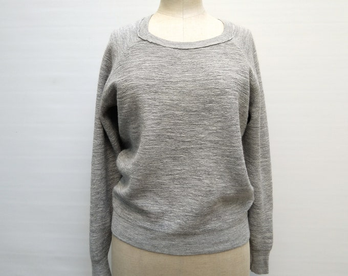 3.1 PHILLIP LIM pre-owned grey alpaca and silk knit sweater