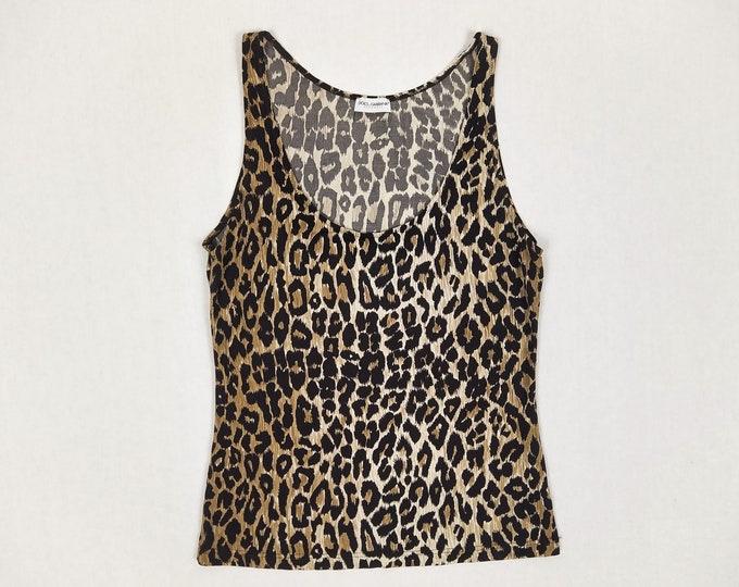 DOLCE & GABBANA pre-owned leopard print tank top