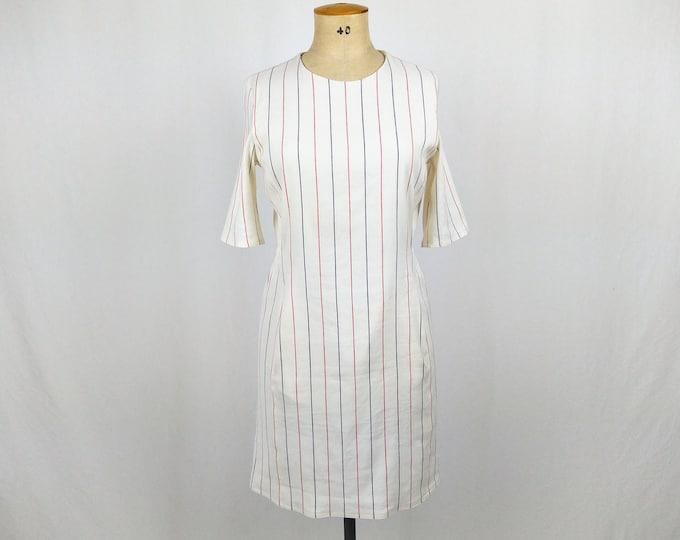 BRUUNS BAZAAR unworn striped off-white linen dress NWT