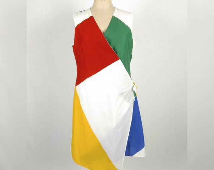 MARIMEKKO Jaana Parkkila pre-owned colorblock print cotton dress
