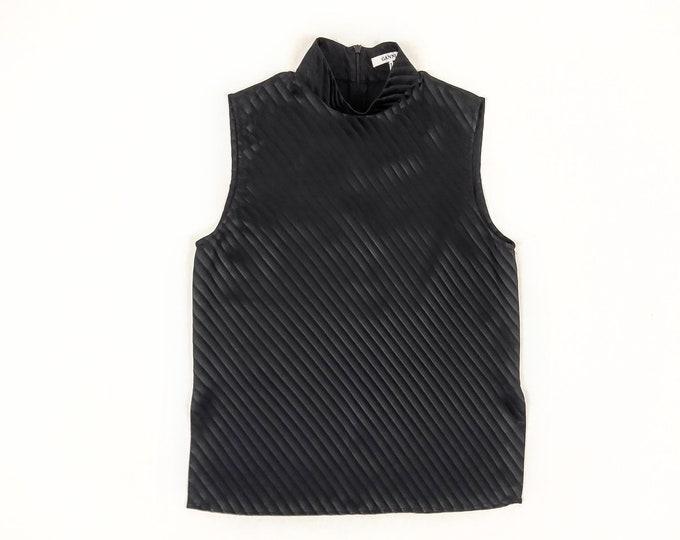 GANNI pre-owned Garcia black satin striped silk top