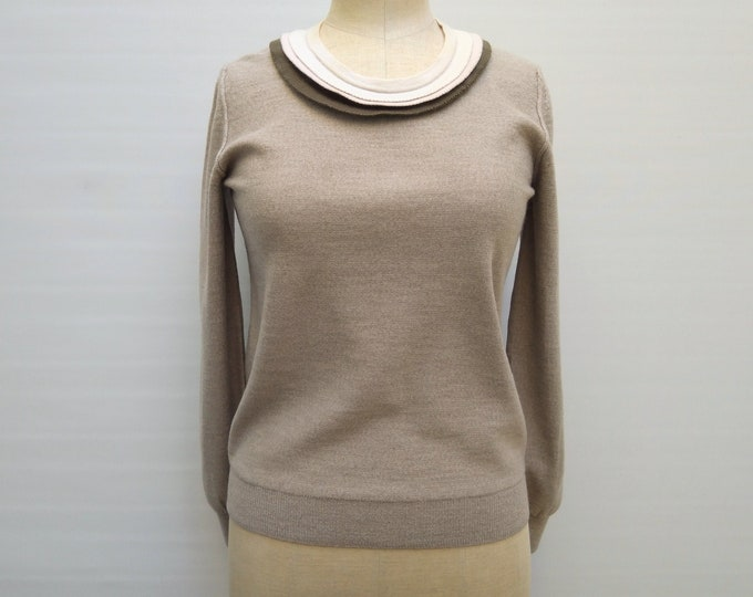 SONIA by SONIA RYKIEL pre-owned clay knit sweater with trims