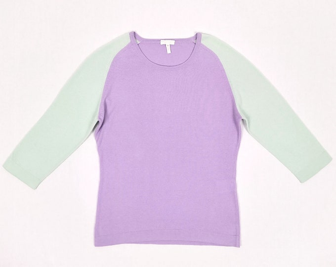 ESCADA SPORT pre-owned mint and lilac raglan sleeve sweater