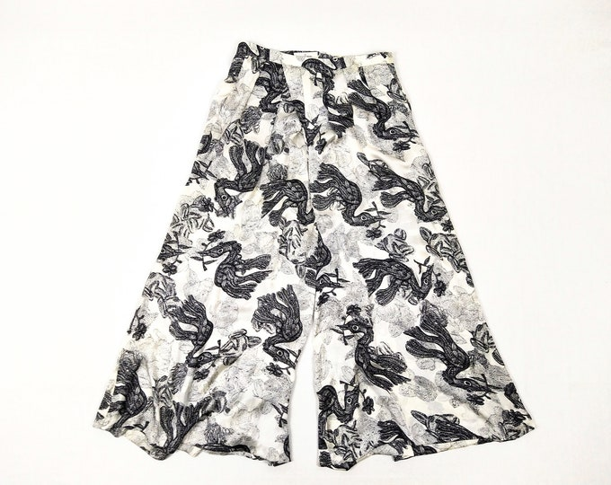 BY MALENE BIRGER pre-owned bird print silk palazzo pants