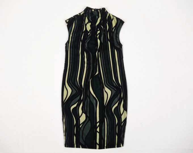 WON HUNDRED pre-owned abstract print velvet dress