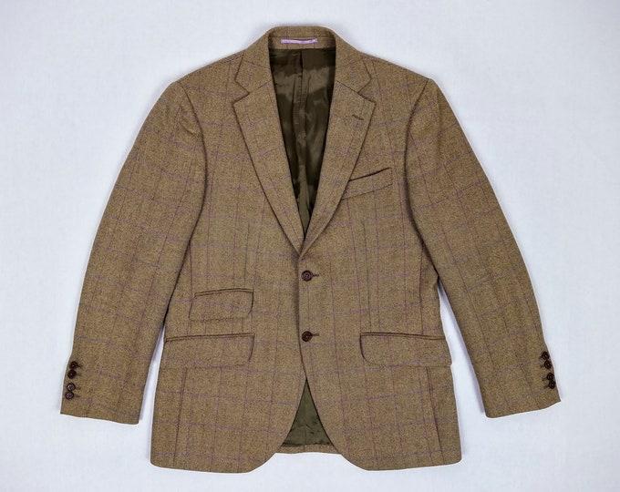 HACKETT LONDON pre-owned herringbone wool blazer / sport jacket