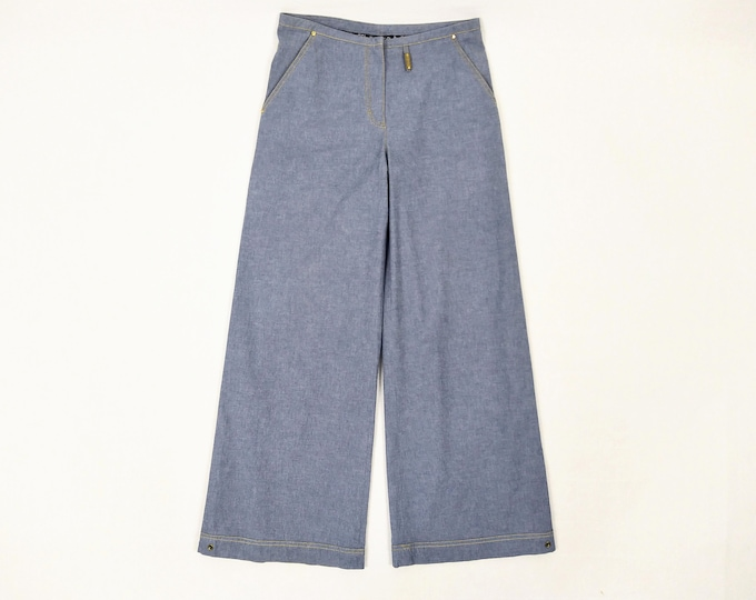 SONIA by SONIA RYKIEL pre-owned blue cotton wide leg pants