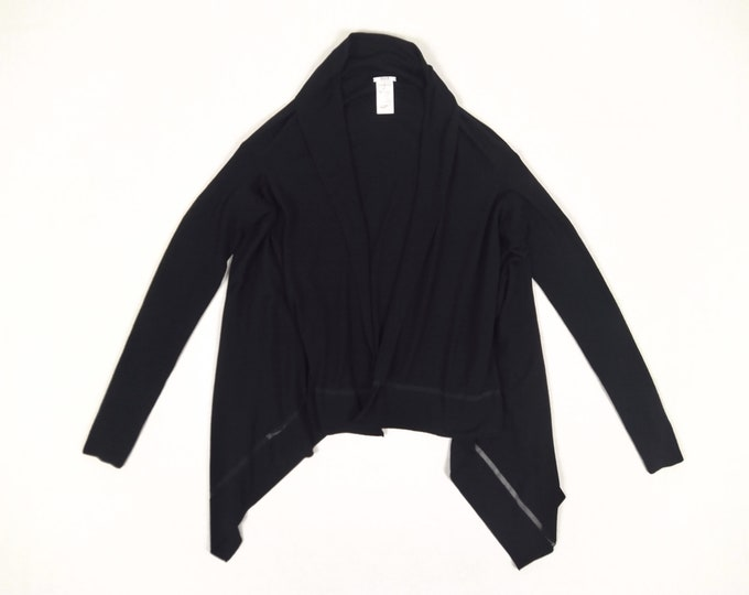 WOLFORD pre-owned black wool open cardigan