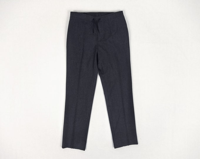 SANDRO pre-owned anthracite wool drawstring pants