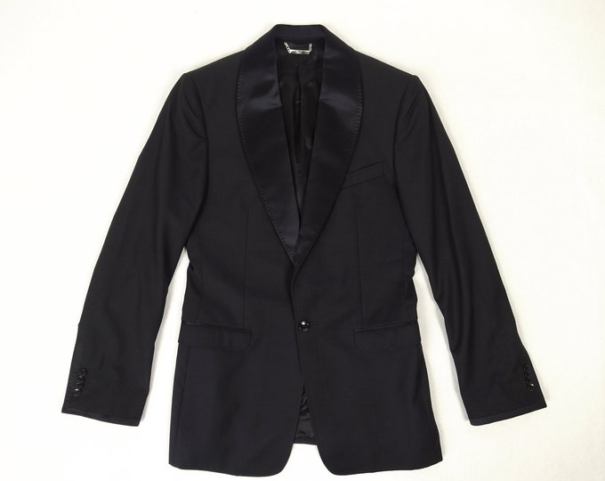 DOLCE & GABBANA pre-owned men's slim fit black dinner jacket