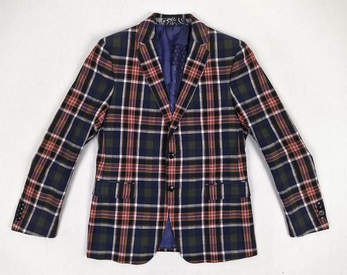 ETRO pre-owned men's plaid linen blazer / sport coat