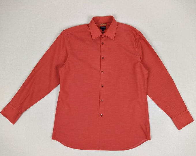 KENZO HOMME pre-owned men's red cotton pique shirt