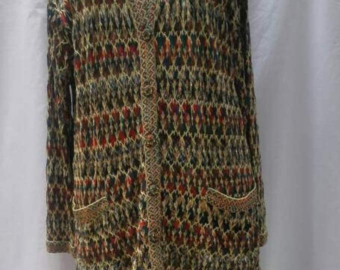 MISSONI vintage multicolour knitted evening outfit / skirt suit