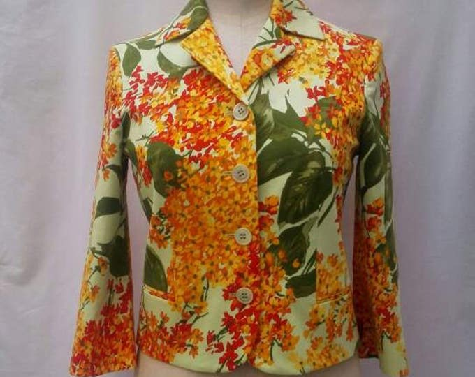 MOSCHINO CHEAP and CHIC vintage 90's multicolour floral cotton jacket