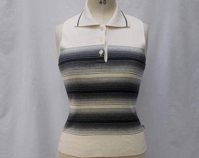 JEAN PAUL GAULTIER Jean's vintage 90s collared knit tank top