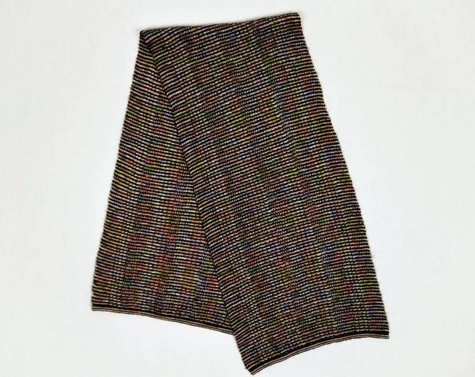 MISSONI SPORT vintage brown/multicolor striped knit scarf
