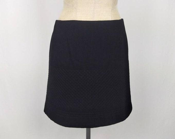 CHLOE vintage 90s quilted black mini skirt